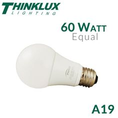 The new ThinkLux 60 Watt Equal A19 LED bulb features high efficiency and output along with a traditional appearance that is at home in any fixture. It emits a p
