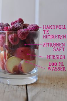 So schmeckt der Sommer Pfirsich Himbeer Smoothie Birds Like Cake - Baking - Enjoying - Sharing Fruit Smoothies, Raspberry Smoothie, Healthy Smoothies, Smoothie Bowl, Smoothie Detox, Avocado Smoothie, Clean Eating Snacks, Healthy Eating, Healthy Food