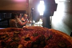 Big pizza at  Patxi's Pizza San Francisco.