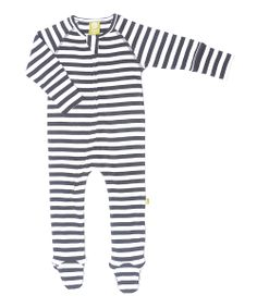 Black & White Stripe Organic Wool Footie - Infant | Daily deals for moms, babies and kids