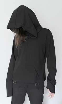 Image of Hoodie with Suspenders - XL