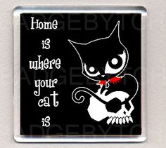 RUBY GLOOM HOME IS WHERE YOUR CAT IS fridge magnet | eBay