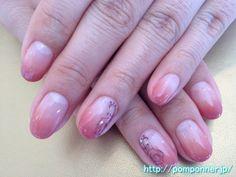 Brown Gradient nail redness 赤みのブラウンのグラデーションネイル