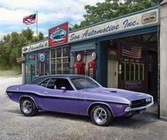 """$4.99 - Dodge 1970 Challenger Mopar Car Small Panel Quilt Fabric 18"""" X 20"""" #ebay #Home & Garden"""