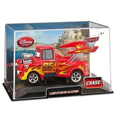 DISNEY PIXAR CARS 2 LIGHTNING MATER DIE CAST CAR (CHASE EDITION) NEW IN CASE