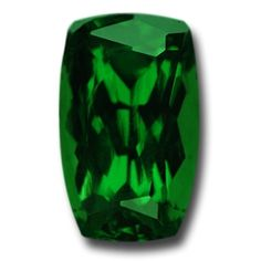 A wonderful Tsavorite. A unique, beautiful long cushion. Exceptional color - pure green hue with electrifying brilliance. Very high clarity. 1.59 carats.
