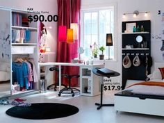 IKEA Teen Girls Dorm Room Design for Youth Style Inspiration