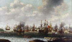 Raid sur la Medway (Tocht naar Chatham), tableau de Pieter Cornelisz van Soest, peint vers 1667.