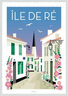 House Illustration, Travel Illustration, Art Deco Posters, Poster Prints, Tourism Poster, Vintage Travel Posters, Poster Vintage, All Poster, Vintage Images