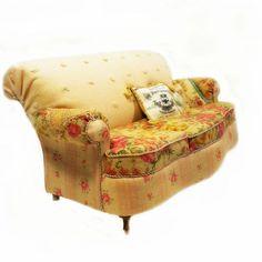 Dollhouse Miniature Cottage Armchair/sofa by minijune on Etsy