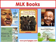 Books for celebrating the life of Dr. Martin Luther King Jr. in Preschool, Pre-K, and Kindergarten.