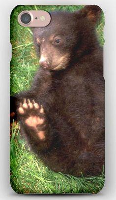 iPhone 7 Case Bear, Cub, Grass, Lies