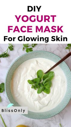 Homemade Face Masks, Homemade Skin Care, Diy Skin Care, Diy Face Mask, Baking Soda Shampoo, Baking Soda Uses, Natural Cough Remedies, Cold Home Remedies, Yogurt Face Mask