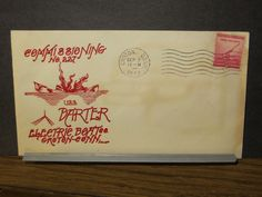 USS DARTER SS-227 Naval Cover 1943 WWII COMMISSIONED Cachet GROTON, CT