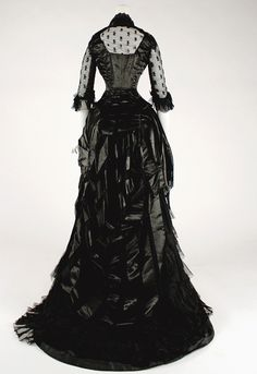 "vintagegal: "" Evening dress 1881–1884 """