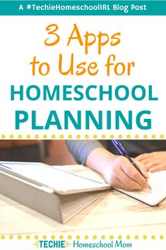 Three Apps To Use for Homeschool Planning