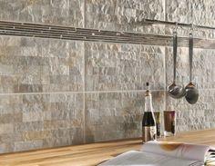 carrelage aspect pierre faence et carrelage de cuisine les nouvelles tendances ctmaison - Faience Cuisine Moderne