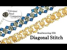 How to Make a Diagonal Stitch Bracelet (Beadweaving 250) - YouTube