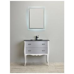 Best Deal - Eviva Aranjuez® 32€³ White Silver Modern Bathroom Vanity Set with Integrated Sink EVVN532-32WHSV