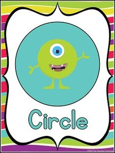 These adorable color posters will go great with any monster theme classroom décor! Included are full size posters(7.5x10 inches), mini posters(5x7 inches), and bonus flashcards(3x4.5 inches) in portrait orientation. 17 2D and 3D shapes-circle, square, triangle, rectangle, oval, rhombus, trapezoid, parallelogram, pentagon, hexagon, octagon, sphere, cube, cylinder, cone, and pyramid. $