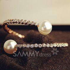 Women's Pearl & Rhinestone Bracelet