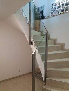 Stairs, Home Decor, Indoor Railing, Glass, Stairways, Stairway, Interior Design, Home Interiors, Staircases
