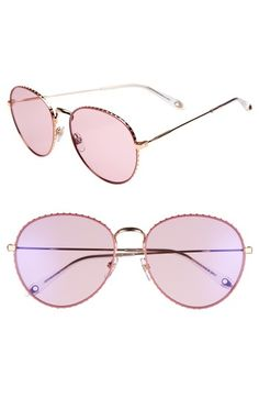 GIVENCHY 60MM ROUND METAL SUNGLASSES - GOLD  PINK.  givenchy   a0e3a6c824