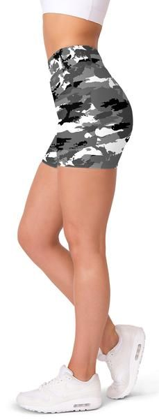 Coole NEON CAMOUFLAGE Jersey Hot Pants Shorts