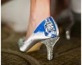 Wedding Shoes Fairy tale wedding Cinderella Glass slipper. $250.00, via Etsy.