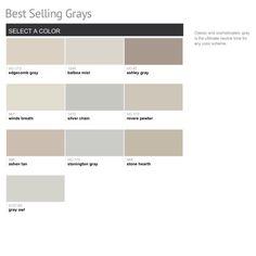 Benjamin Moore popular grays