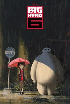 Image via We Heart It https://weheartit.com/entry/156049898 #disney #MyNeighborTotoro #bighero6 #hirohamada #baymax