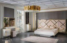 Luxury Bedroom Design, Bedroom Bed Design, Bedroom Furniture Design, Home Room Design, Luxury Furniture, Furniture Ideas, Bed Designs India, New Bed Designs, Bed Headboard Design