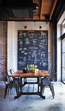 These 24 Interiors Have Fully Embraced The Chalkboard Trend  ➤ http://CARLAASTON.com/designed/chalkboard-design-trend