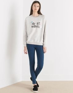 SWEAT IMPRIMÉ MESSAGE - SWEAT - FEMME - PULL&BEAR France