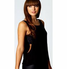 50153fcd2 boohoo Catherine Basic Drop Arm Vest - black azz60261 Choose printed tees  for casual day tops