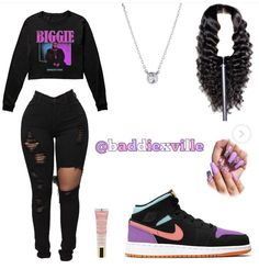 Cute Lazy Outfits, Baddie Outfits Casual, Swag Outfits For Girls, Teenage Girl Outfits, Cute Swag Outfits, Dope Outfits, Teen Fashion Outfits, Girly Outfits, Trendy Outfits