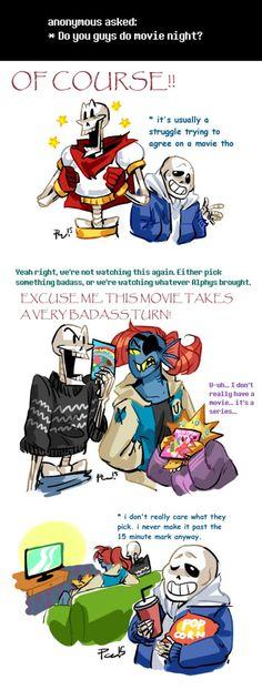 Undertale ask blog: movie night by bPAVLICA on DeviantArt
