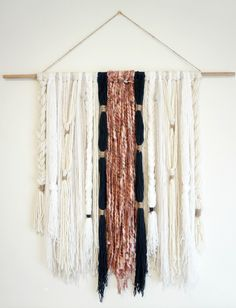 DIY: Modern Boho Yarn Wall Hanging - Dahlias and Dimes