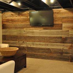 Barn Siding Basement Design Ideas, Pictures, Remodel & Decor