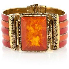 Orange Stone Cuff