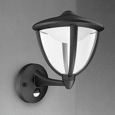 Buy Black Philips myGarden Robin LED/PIR from our Wall Lighting range at John Lewis & Partners. Wall Lights, Backyard Design, Led Wall Lights, Security Lights, Led, Luxury Garden Furniture, Diy Planters, Outdoor Lighting, Light