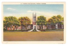 Vintage Kansas Postcard Topeka by PicturesFromThePast on Etsy, $3.25