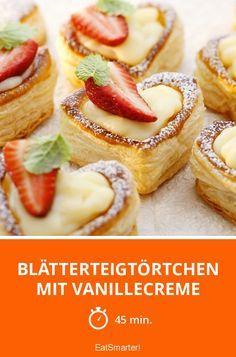 Blätterteigtörtchen mit Vanillecreme - smarter - Zeit: 45 Min.   eatsmarter.de