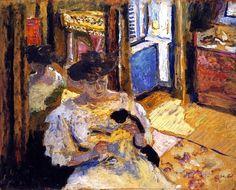 Woman Seated on a Sofa - Edouard Vuillard - circa 1906
