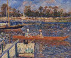 Pierre-Auguste Renoir - The Seine at Argenteuil (La Seine à Argenteuil) at The Barnes Foundation in Philadelphia PA.