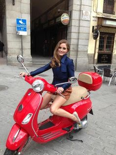 Vespa in Fire Engine red...nice