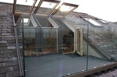 We love the idea of installing a balcony in your loft conversion . exterior loft - Architecture DesignsWe love the idea of installing a balcony in your loft conversion . Attic Loft, Loft Room, Attic Rooms, Bedroom Loft, Attic Bathroom, Attic Library, Bedroom Balcony, Attic Ladder, Attic Playroom
