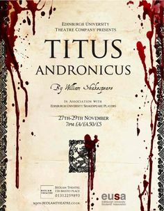 Titus Andronicus at Bedlam Theatre