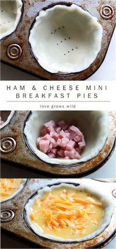 Ham and Cheese Mini Breakfast Pies