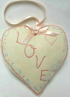 Valentine Heart Door Pillow / Love / by luvinstitchin4u on Etsy